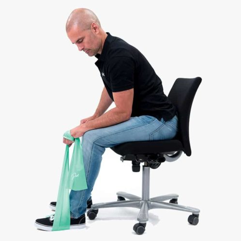 JobOut Strechband övning sittande