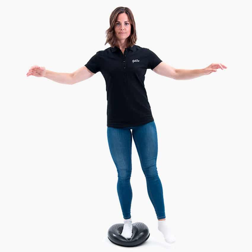 JobOut Balanskudde balansövning på ett ben